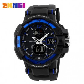 SKMEI Jam Tangan Digital Analog Pria - AD1040 - Black/Blue