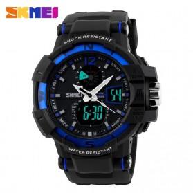 SKMEI Jam Tangan Digital Analog Pria - AD1040 - Black/Blue - 2