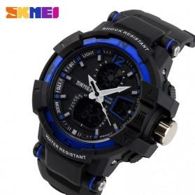 SKMEI Jam Tangan Digital Analog Pria - AD1040 - Black/Blue - 3