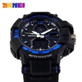 SKMEI Jam Tangan Digital Analog Pria - AD1040 - Black/Blue - 4