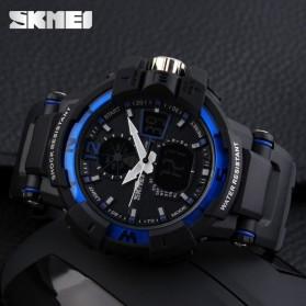 SKMEI Jam Tangan Digital Analog Pria - AD1040 - Black/Blue - 5