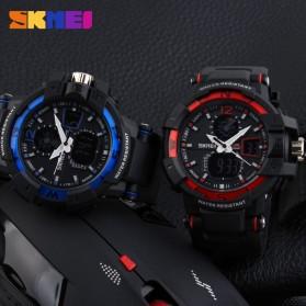 SKMEI Jam Tangan Digital Analog Pria - AD1040 - Black/Blue - 6