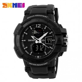 SKMEI Jam Tangan Digital Analog Pria - AD1040 - Black