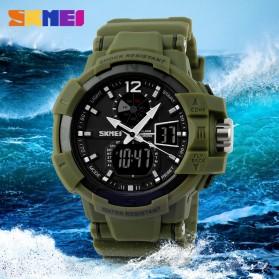 SKMEI Jam Tangan Digital Analog Pria - AD1040 - Army Green - 7