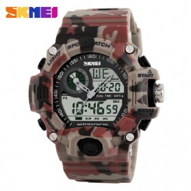 SKMEI Jam Tangan Analog Digital Pria - AD1029 - Painting Red