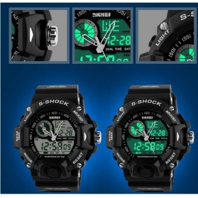 SKMEI Jam Tangan Analog Digital Pria - AD1029 - Black - 2
