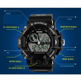 SKMEI Jam Tangan Analog Digital Pria - AD1029 - Black - 3