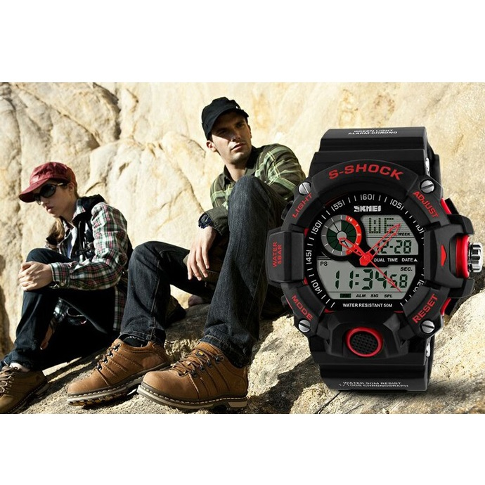 ... SKMEI Jam Tangan Analog Digital Pria - AD1029 - Red - 5 ... 1a99644eee