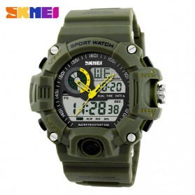 SKMEI Jam Tangan Analog Digital Pria - AD1029 - Army Green - 1