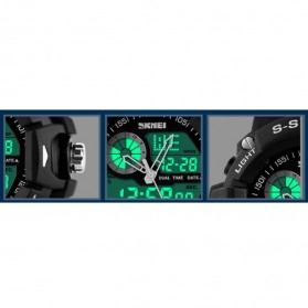 SKMEI Jam Tangan Analog Digital Pria - AD1029 - Army Green - 7