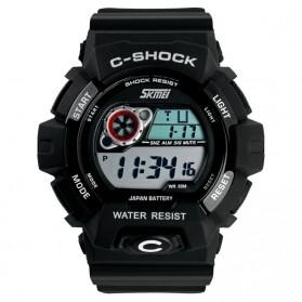 SKMEI C-Shock Sport Watch Water Resistant 50m - DG1007 - White/Black