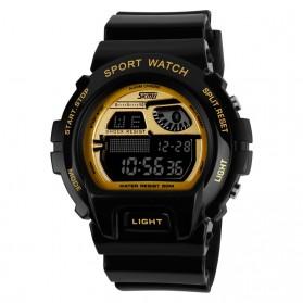 SKMEI S-Shock Sport Watch Water Resistant 50m - DG1010 - Black Gold