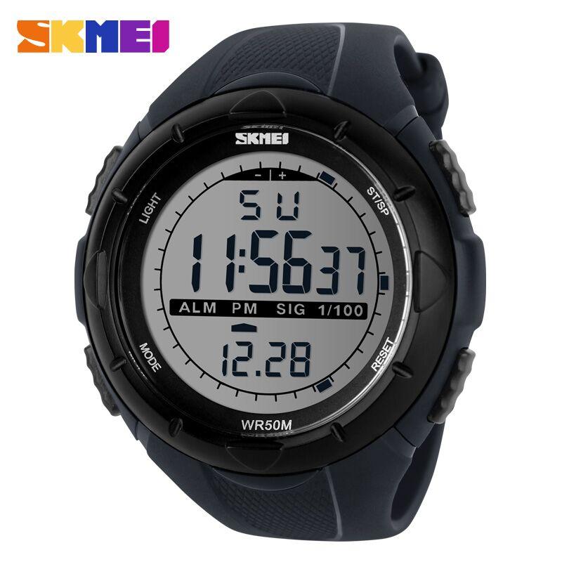 Skmei jam tangan sport digital pria dg1025 gray - Wanduhr digital groay ...