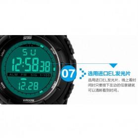 SKMEI Jam Tangan Sport Digital Pria - DG1025 - Titanium Silver - 5