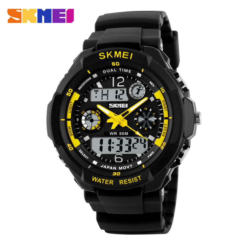 ... SKMEI Jam Tangan Analog Digital Pria - AD0931 - Black Yellow - 1 ... 506aa30924