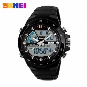 SKMEI Jam Tangan Digital Analog Pria - AD1016 - Black