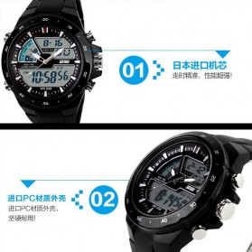 SKMEI Jam Tangan Digital Analog Pria - AD1016 - Black - 5