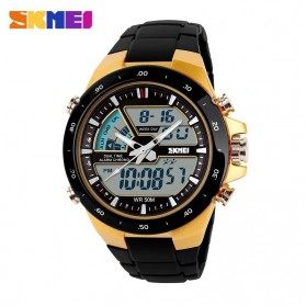 SKMEI Jam Tangan Digital Analog Pria - AD1016 - Golden