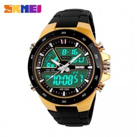SKMEI Jam Tangan Digital Analog Pria - AD1016 - Golden - 2