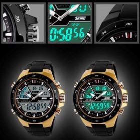 SKMEI Jam Tangan Digital Analog Pria - AD1016 - Golden - 3