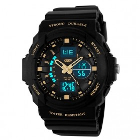 SKMEI Jam Tangan Analog Digital Pria - AD0955 - Black Gold