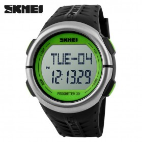SKMEI Jam Tangan Olahraga Pedometer Heart Rate - DG1058HR - Black/Green