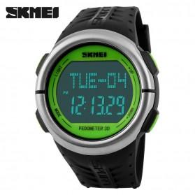 SKMEI Jam Tangan Olahraga Pedometer Heart Rate - DG1058HR - Black/Green - 2