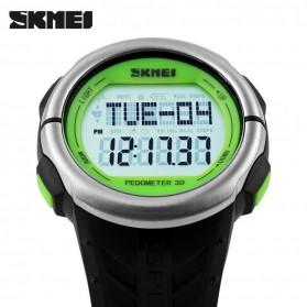 SKMEI Jam Tangan Olahraga Pedometer Heart Rate - DG1058HR - Black/Green - 4