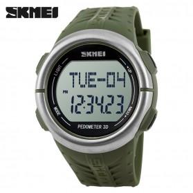 SKMEI Jam Tangan Olahraga Pedometer Heart Rate - DG1058HR - Army Green