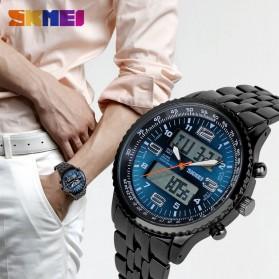 SKMEI Jam Tangan Analog Digital Pria - AD1032 - Black/Blue - 6