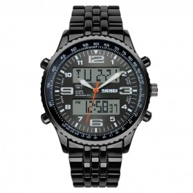SKMEI Jam Tangan Analog Digital Pria - AD1032 - Black