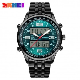 SKMEI Jam Tangan Analog Digital Pria - AD1032 - Black Green 1e2c4076b9