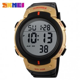 SKMEI Jam Tangan Digital Pria - DG1068 - Black Gold