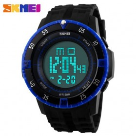SKMEI Military Sport Watch Water Resistant 50m - DG1089 - Black/Blue