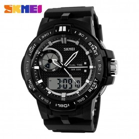SKMEI Jam Tangan Digital Analog Pria - AD1070 - Black