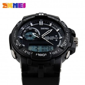 SKMEI Jam Tangan Digital Analog Pria - AD1070 - Black - 3
