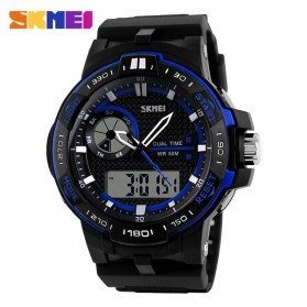 SKMEI Jam Tangan Digital Analog Pria - AD1070 - Blue