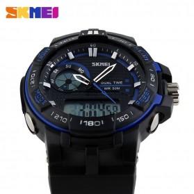 SKMEI Jam Tangan Digital Analog Pria - AD1070 - Blue - 3