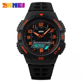 SKMEI Casio Men Sport LED Watch Water Resistant 50m - AD1065 - Orange