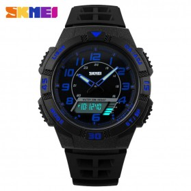 SKMEI Casio Men Sport LED Watch Water Resistant 50m - AD1065 - Blue