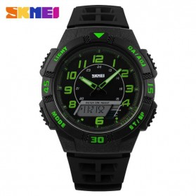 SKMEI Casio Men Sport LED Watch Water Resistant 50m - AD1065 - Green