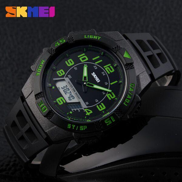 SKMEI Jam Tangan Sporty Pria - AD1065 - Green - JakartaNotebook.com 9a535324ad