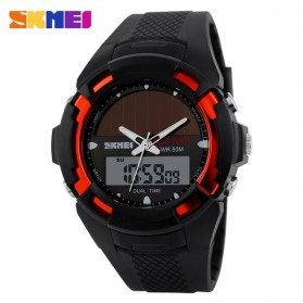 SKMEI Jam Tangan Solar Digital Analog Pria - AD1056E - Red