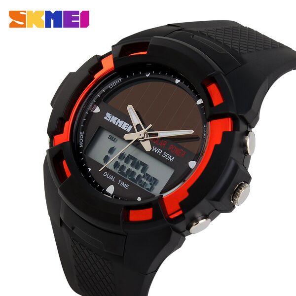 ... SKMEI Jam Tangan Solar Digital Analog Pria - AD1056E - Red - 2 ... fc43394e30