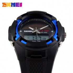 SKMEI Jam Tangan Solar Digital Analog Pria - AD1056E - Blue - 3