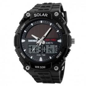 SKMEI Jam Tangan Solar Digital Analog Pria - AD1049E - Black