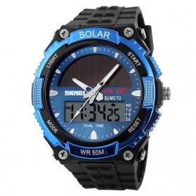 SKMEI Jam Tangan Solar Digital Analog Pria - AD1049E - Blue