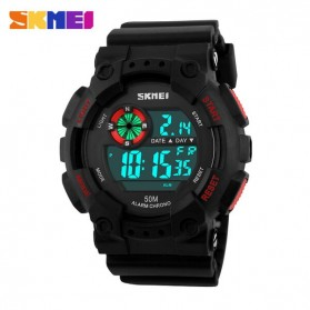 SKMEI Jam Tangan Digital Pria - DG1101 - Black/Red
