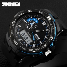 SKMEI Jam Tangan Sport Pria - AD1081 - Black/Blue - 5