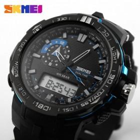 SKMEI Jam Tangan Sport Pria - AD1081 - Black/Blue - 7